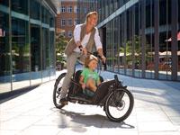 Auch Kinder lieben die Fahrt mit dem Load Hybrid von Riese & Müller.