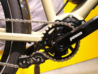 Die Getriebebox von Pinion rundet das E-Bike Set von Velotraum perfekt ab.