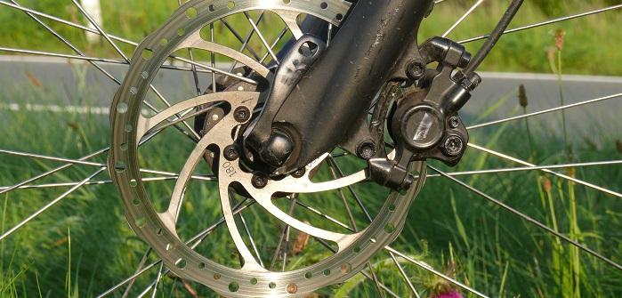 Scheibenbremse am Fahrrad, eine tolle Sache die jeder Fahrradfahrer zu schätzen weiß