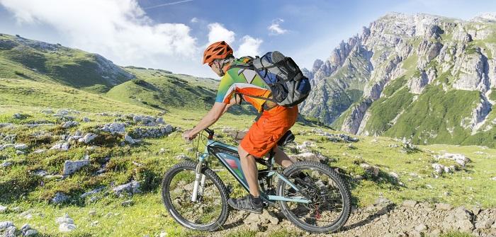 Mit dem E- Bike lassen sich viele Berge viel einfacher erobern